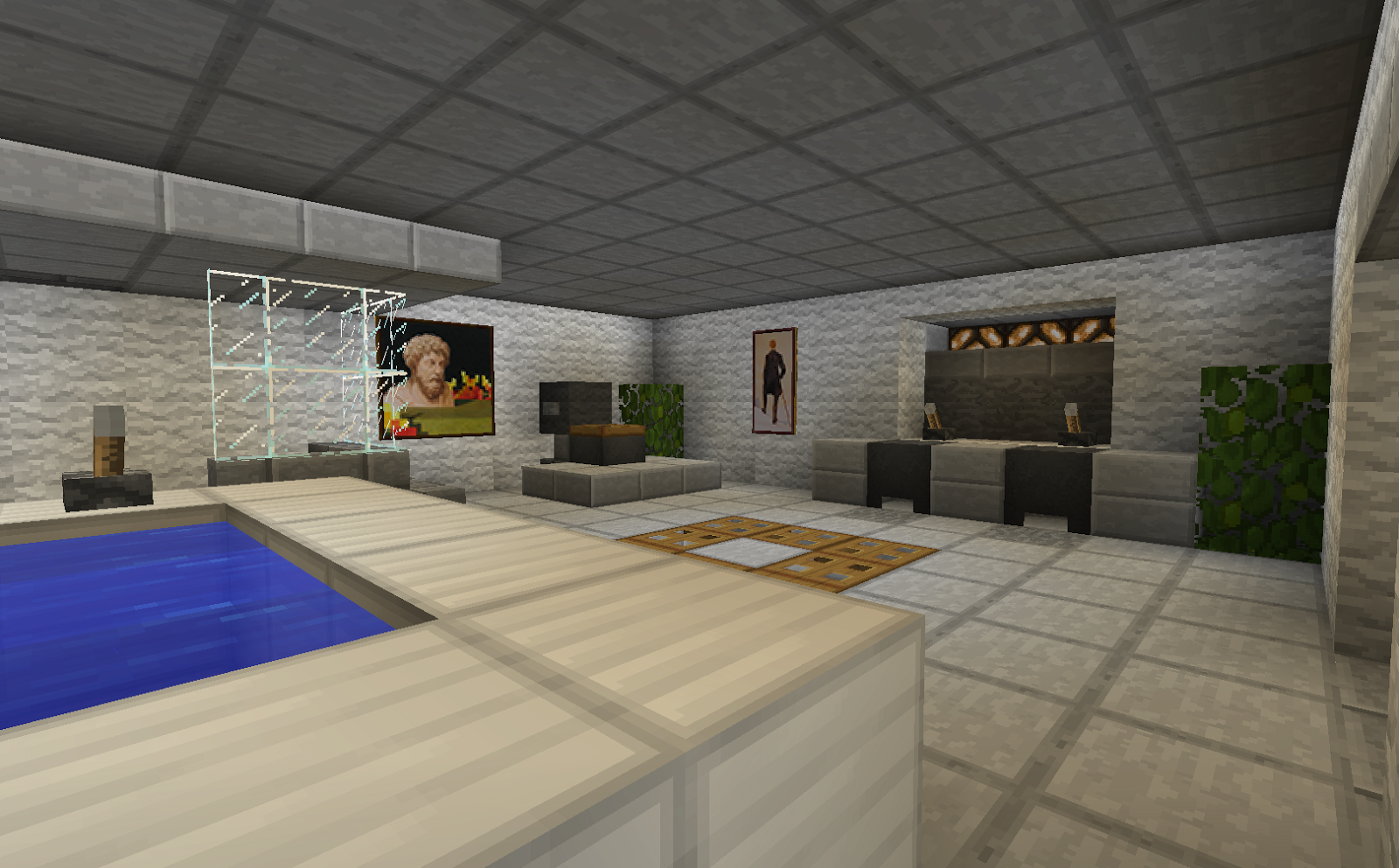 Minecraft bathroom gallery for Bathroom designs minecraft