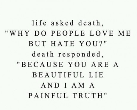 is just a temporary beauty and death is the sad reality coz it is the ...