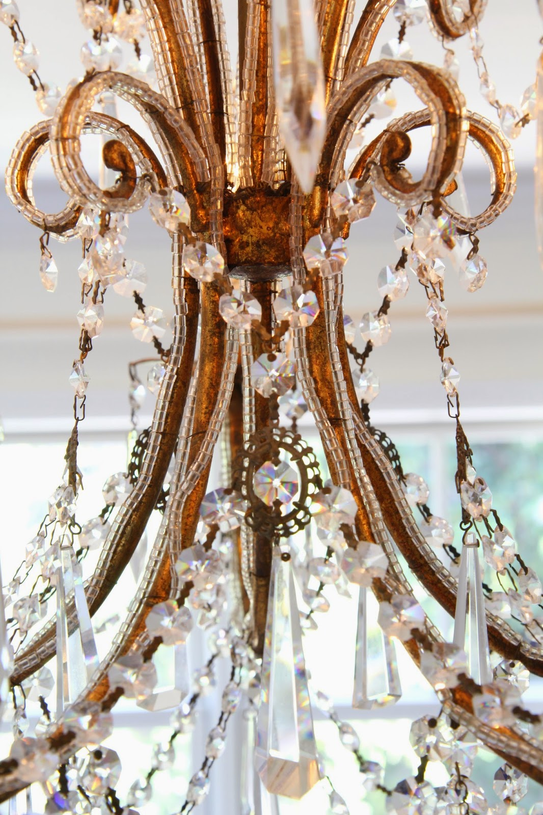 Macaroni Beading: Chandelier for the Master Bedroom; Nora's Nest