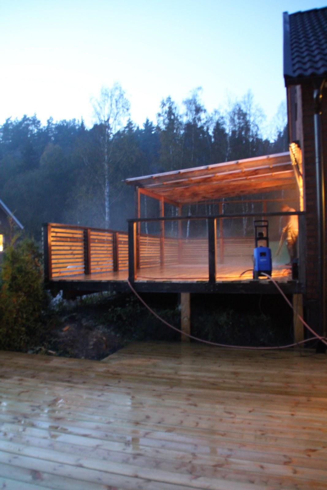 Bellas väg tillbaka: dagens projekt   bygga altan och räcke