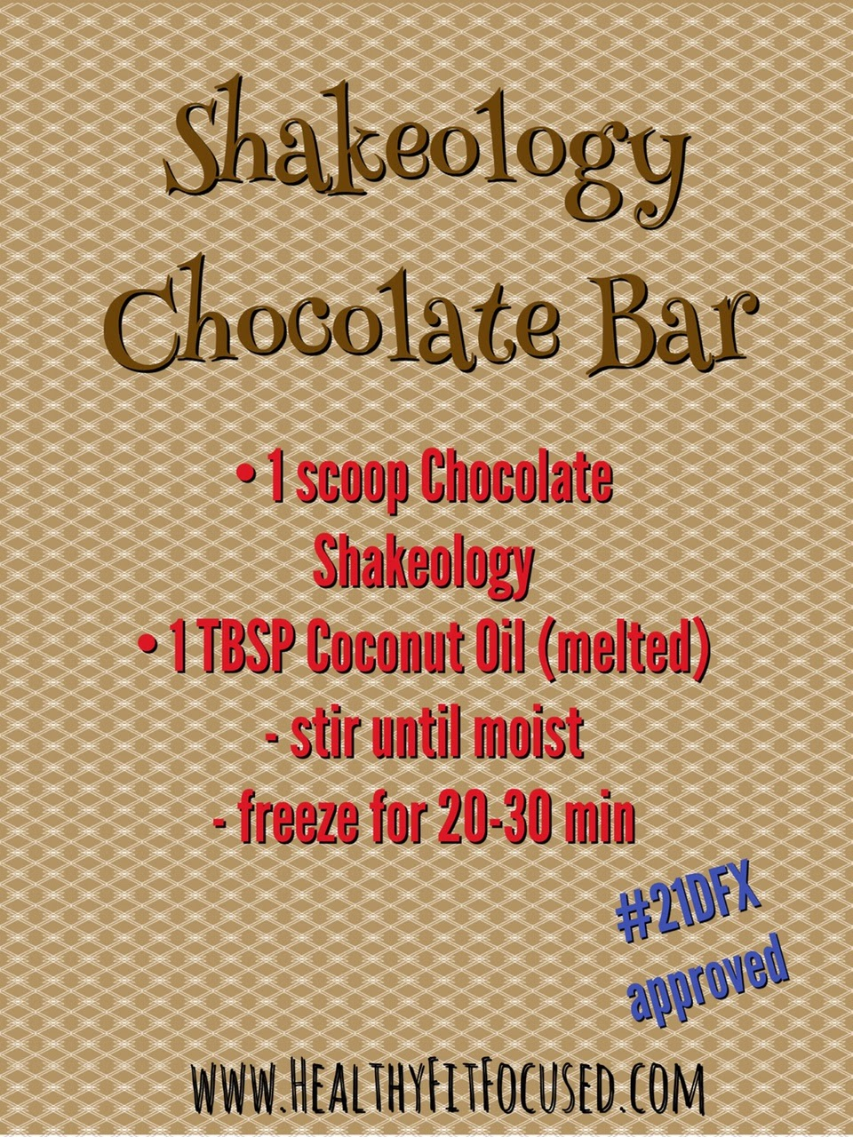 21 Day Fix Approved Chocolate Bar, Clean Eating Chocolate, Shakeology Chocolate Bar, www.HealthyFitFocused.com