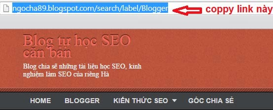 huong dan su dung the label trong blogspot