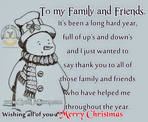 merry christmas to my family and friends