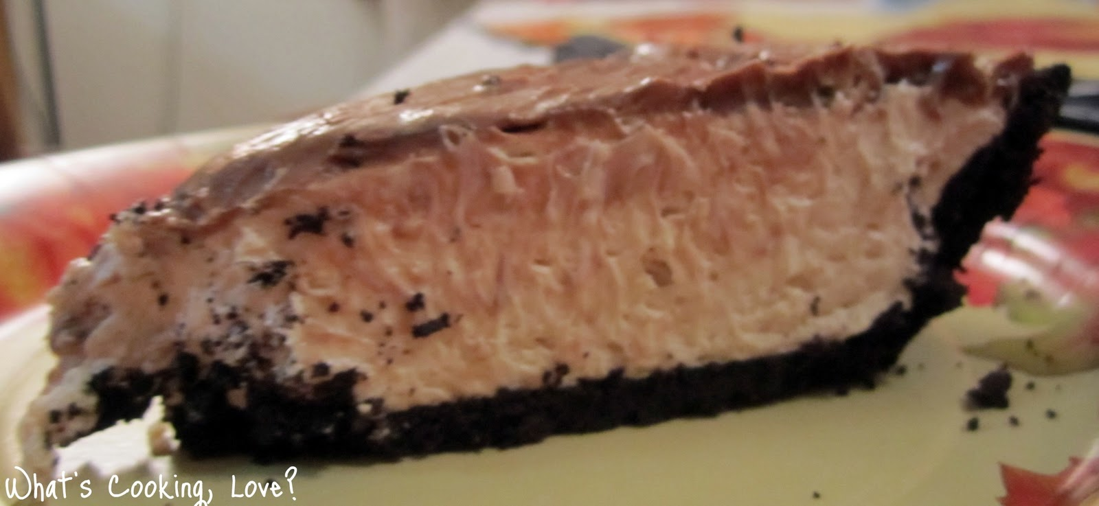Peanut Butter Pie with Fudge Topping - Whats Cooking Love?