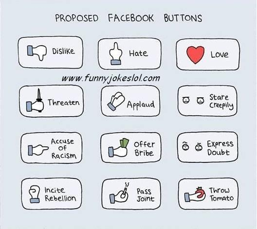 all new facebook jokes, mark zuckerburg please consider adding these buttons