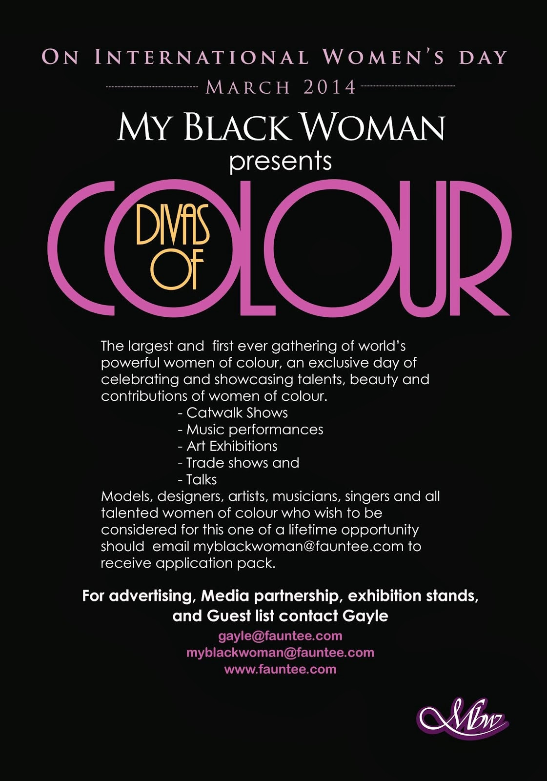 My Black Woman presents - Divas Of Colour