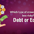 Which type of crowdfunding is less risky? Debt or Equity
