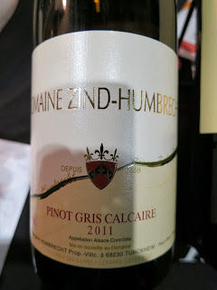Wine Review of 2011 Domaine Zind-Humbrecht Calcaire Pinot Gris from Alsace, France