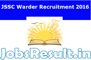 JSSC Warder Recruitment 2016
