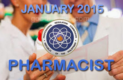 PRC: Pharmacist Board Exam Results on January 2015 - Pharmacist Licensure Examination Passers