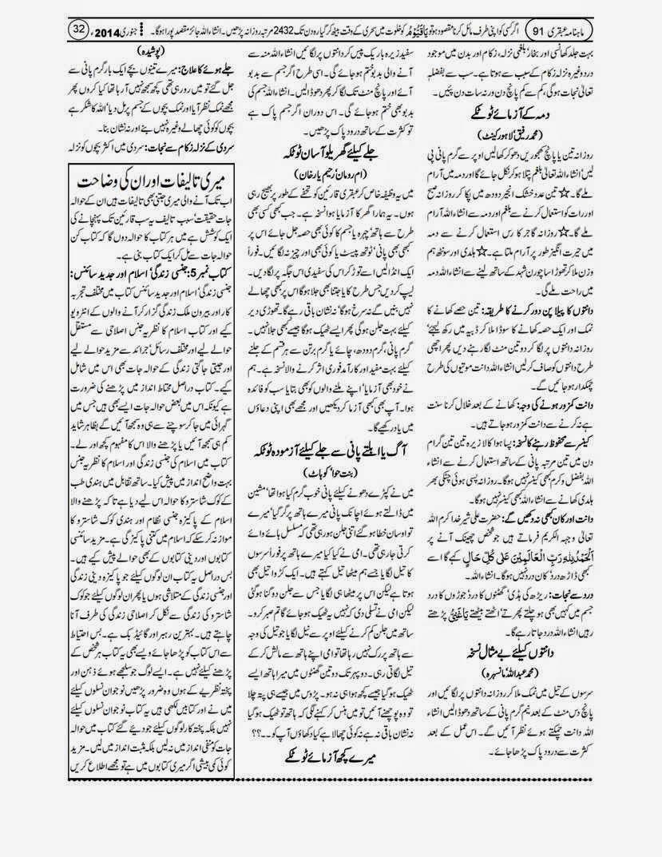 page 32 ubqari january 2014