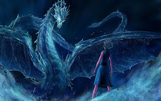 Toshiro Hitsugaya Hyorinmaru Ice Dragon Bleach Anime HD Wallpaper Desktop PC Background 1880
