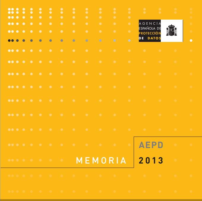 Memoria AEPD 2013