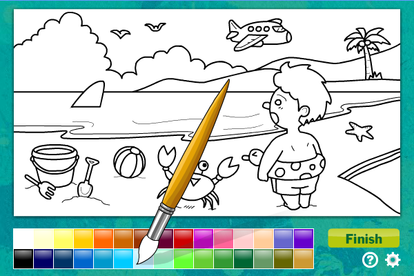 kids educational games online colouring games