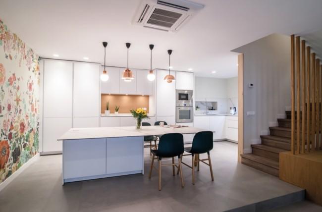 Marzua: Puertas abiertas: cocina, comedor y salón integradas en la ...