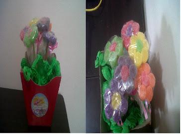 Cachepot Grande com Flores de JuJuba e Foto