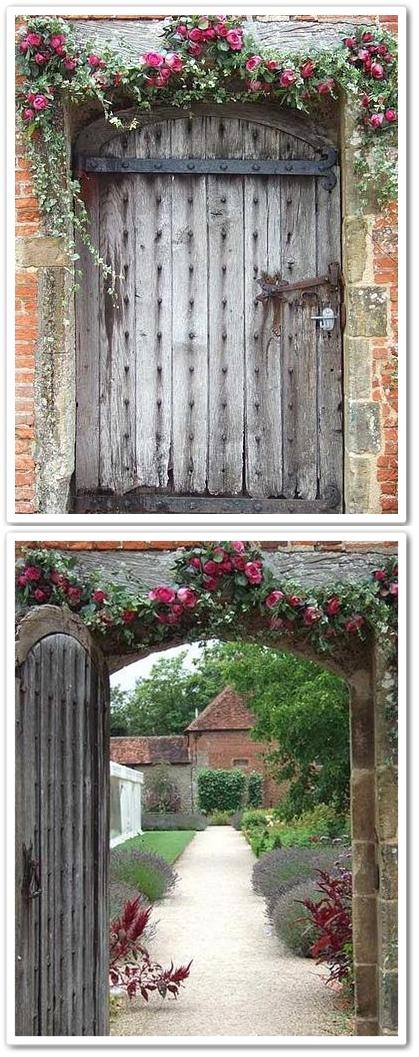 gammal port, rosenträdgård, engelsk trädgård