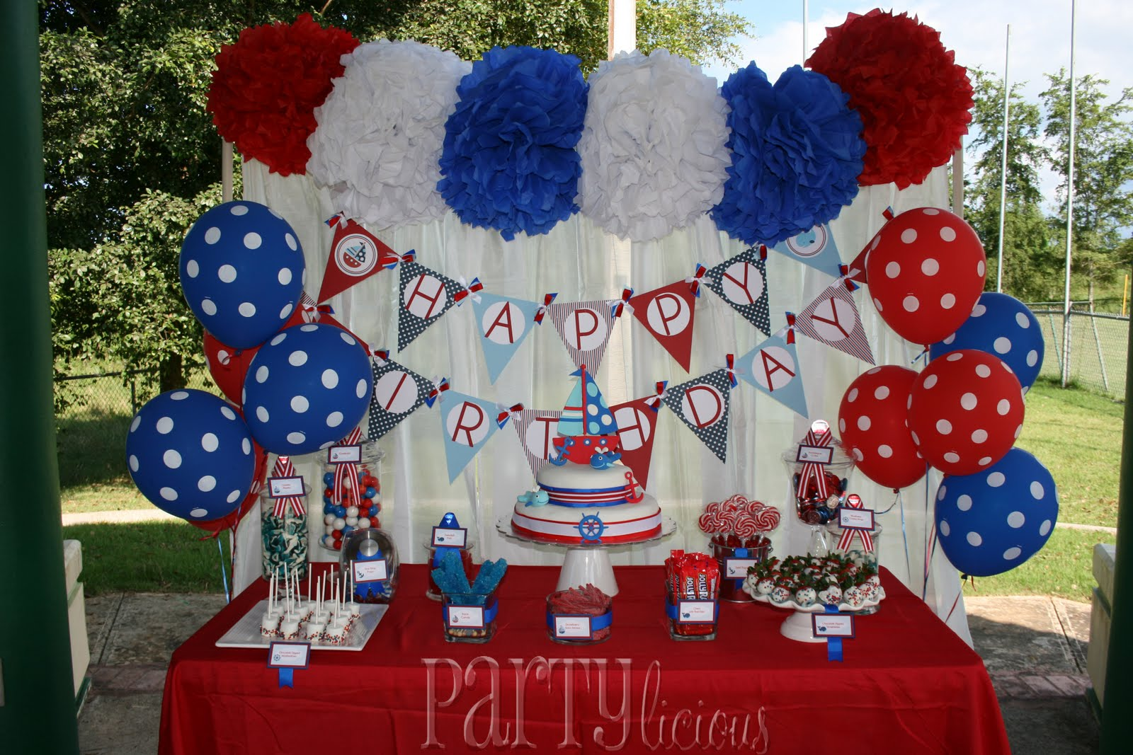 Partylicious nautical 1st bday bash for 1st birthday decoration ideas