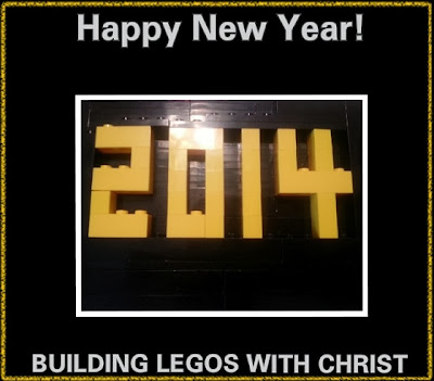 2014 Happy New Year Lego Creation, Building Legos with Christ