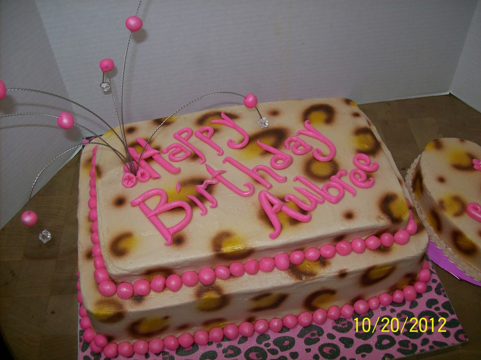 Cakes By Chris 1st Birthday Leopard Print