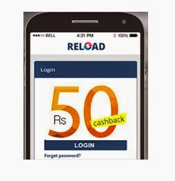 Reload Rs 50 Cash Back Offer on Recharge & Bill Payment