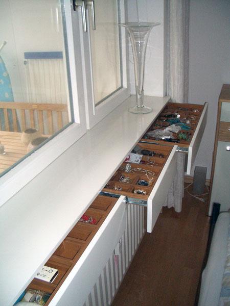 der holzversteher fensterbank schubladen. Black Bedroom Furniture Sets. Home Design Ideas