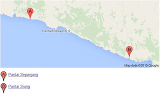peta Pantai Sepanjang Gunungkidul Yogyakarta