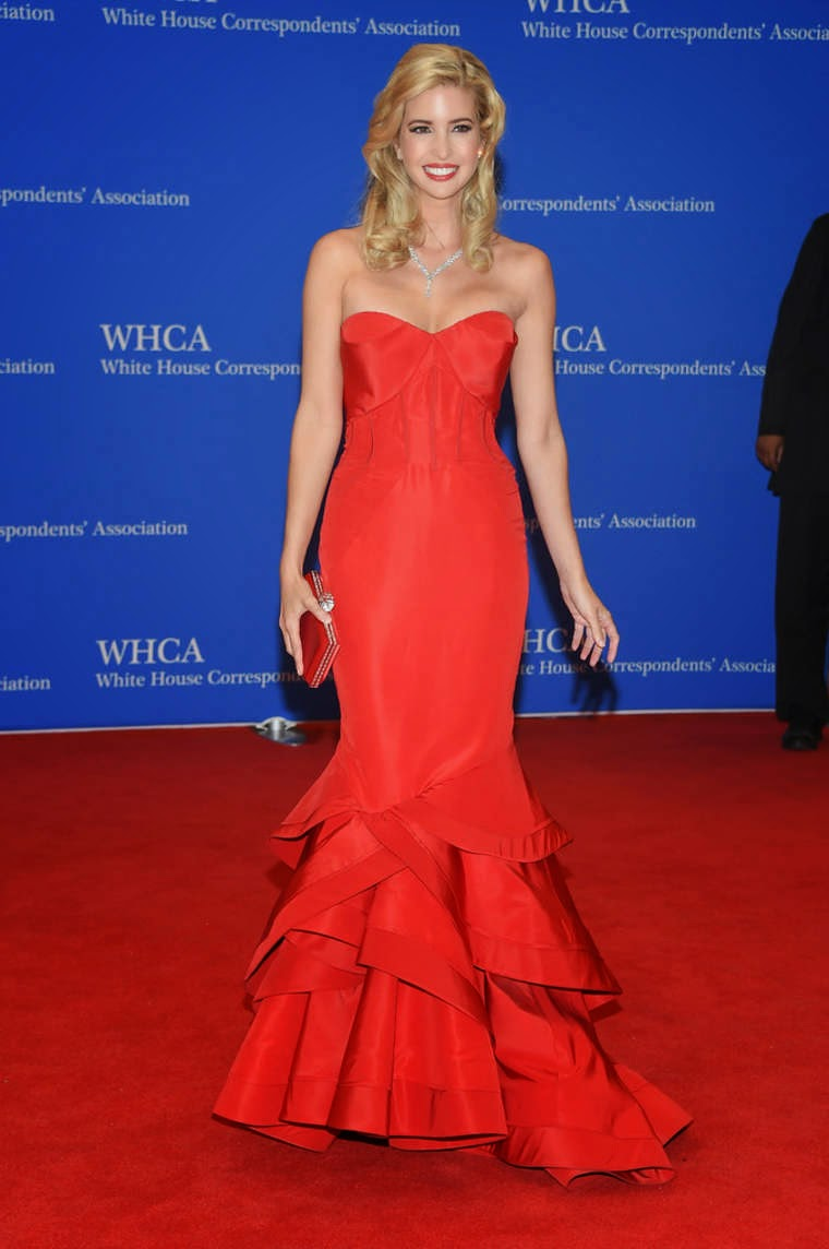 Ivanka Trump in a glamorous red dress at the 2015 White House Correspondents' Association Dinner