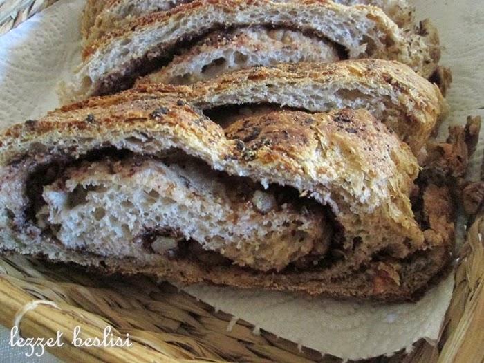cevizli rulo ekmek