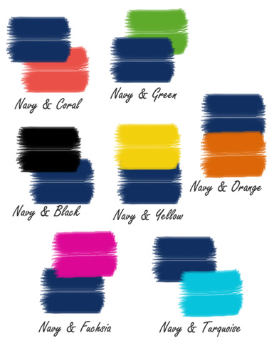 Belle maison color trend navy blue - What colors compliment blue ...