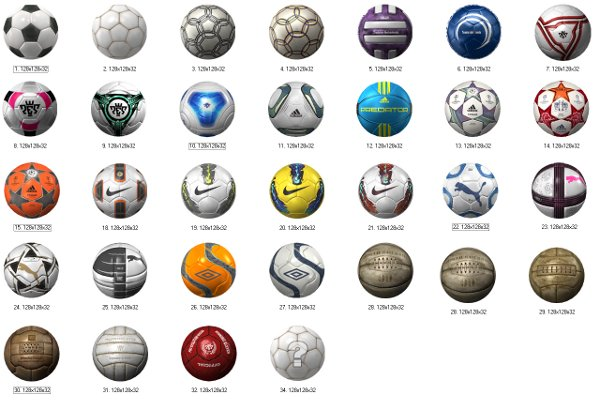 This list has been taken from the latest code of PES 2012, so please ...
