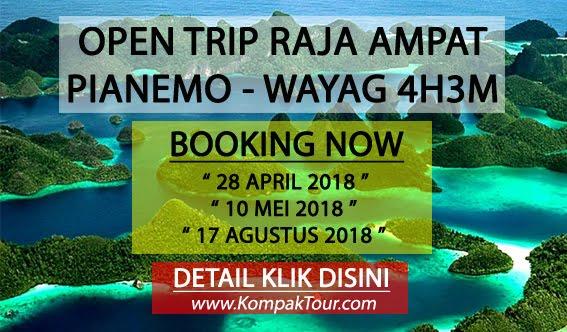 OPEN TRIP RAJA AMPAT 4H3M