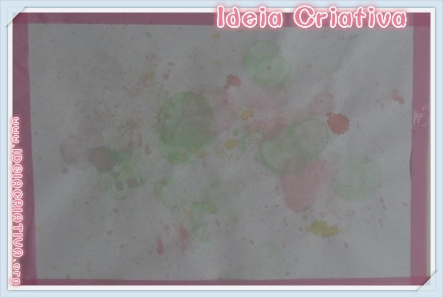 Técnica Pintura com Bolhas de Sabão