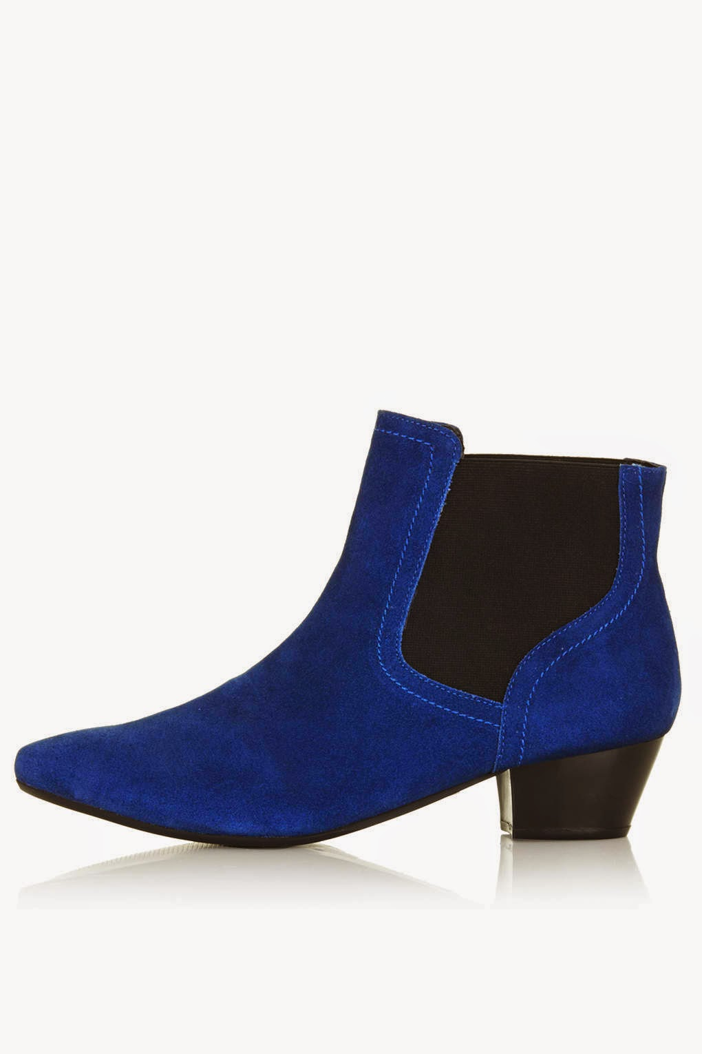 bright blue suede boots