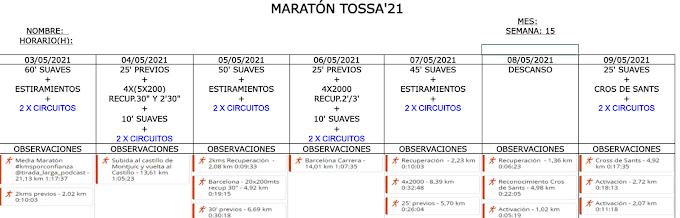 Entreno Maratón Tossa'21