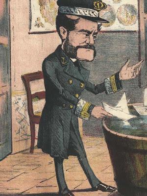 Brigadier Topete, caricatura procedente de la revista satírica La Flaca