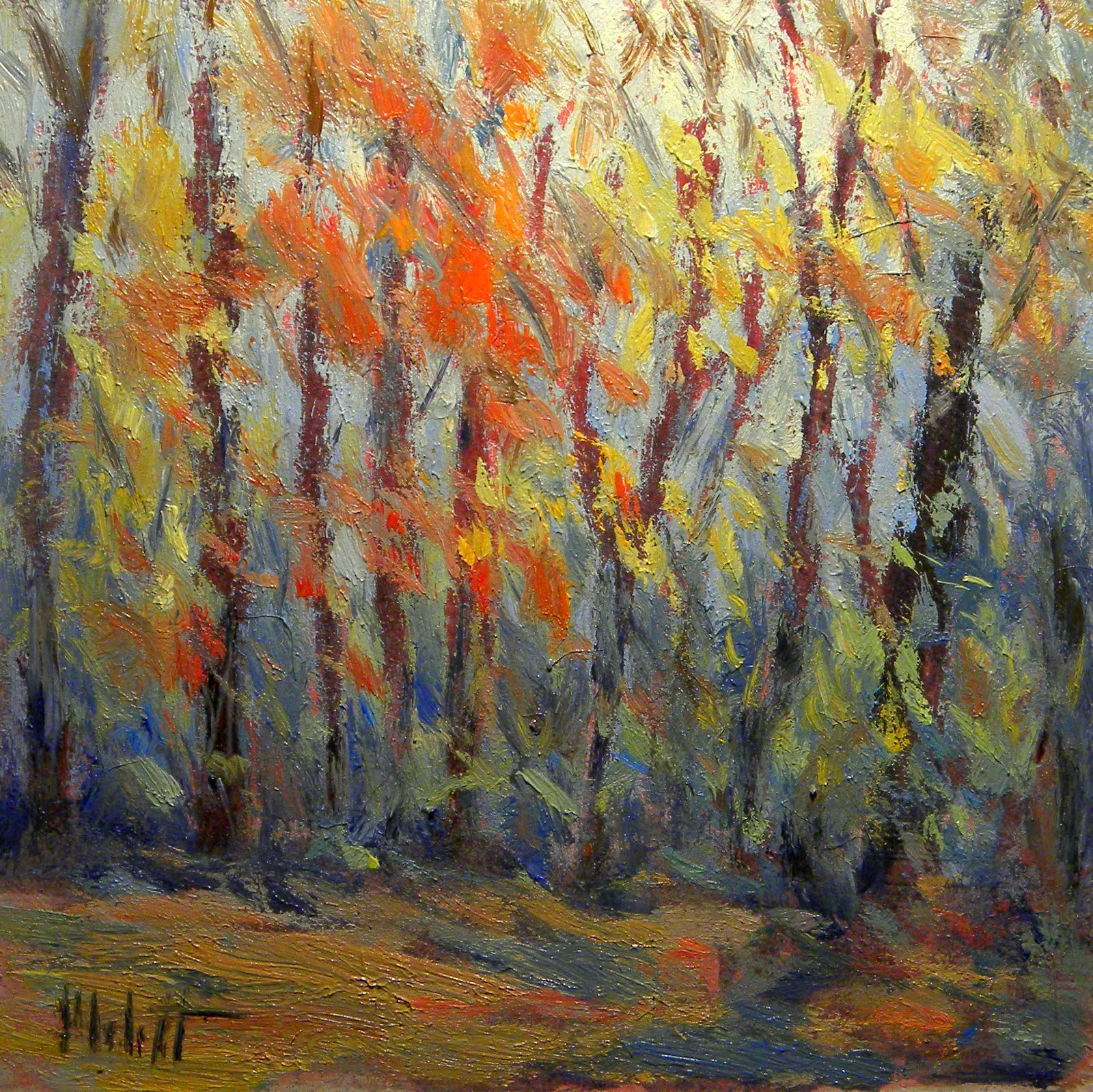 Heidi Malott Original Paintings Autumn Fall Colors