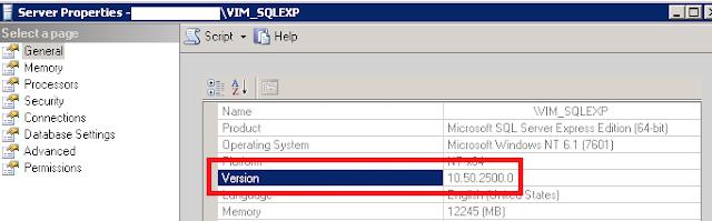 Ver versión SQL