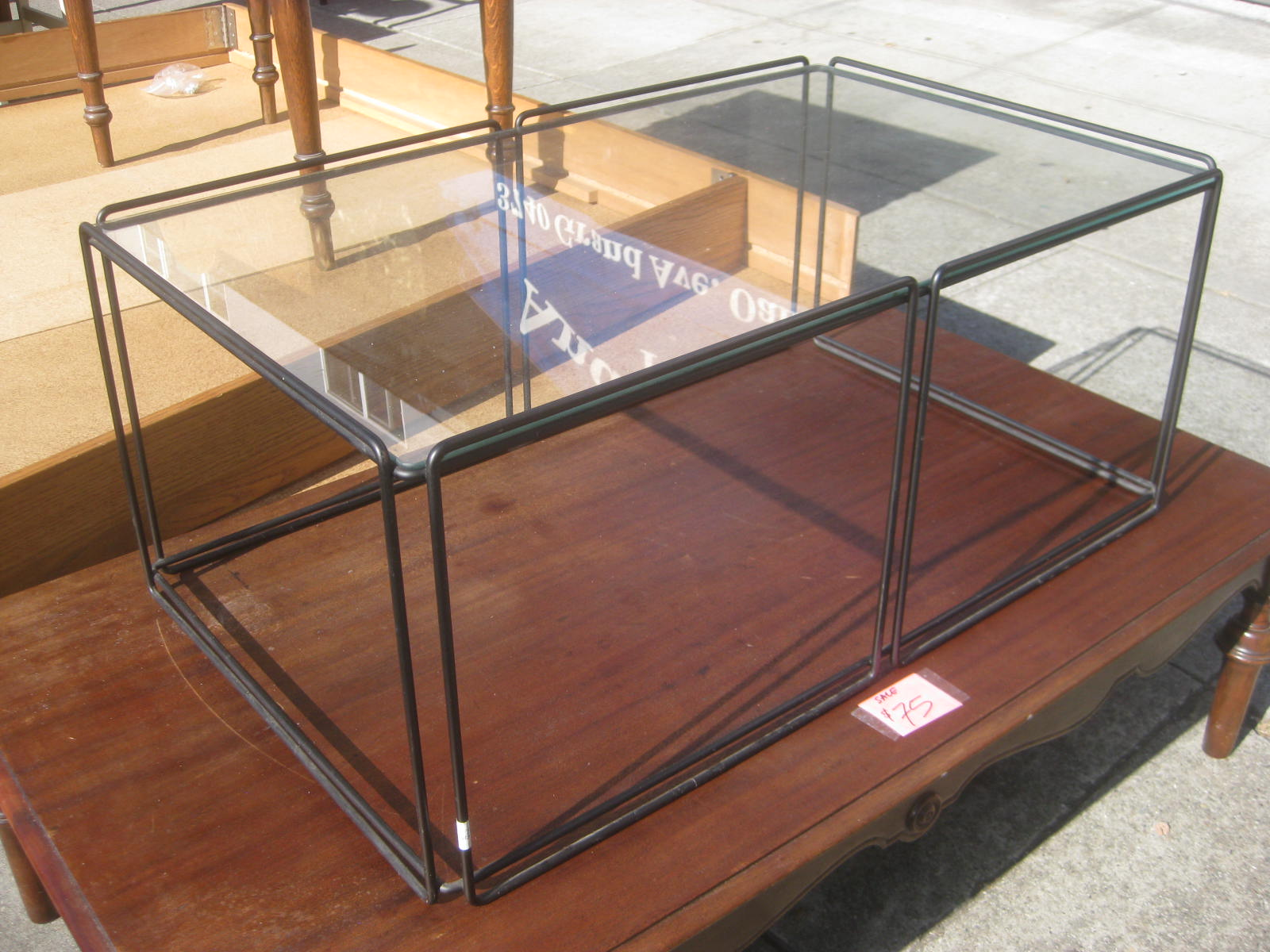 Uhuru furniture collectibles sold glass box coffee table 30 Glass box coffee table