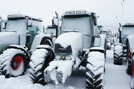 Ciągniki FENDT w śniegu!