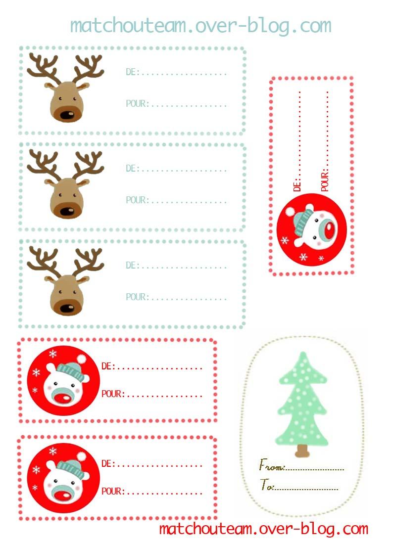 Célèbre Ma Tchou team: étiquettes à imprimer pour de beaux paquets cadeaux WV56