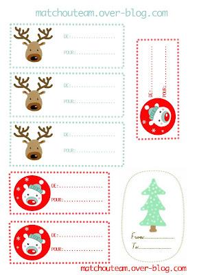 étiquette pour Noël