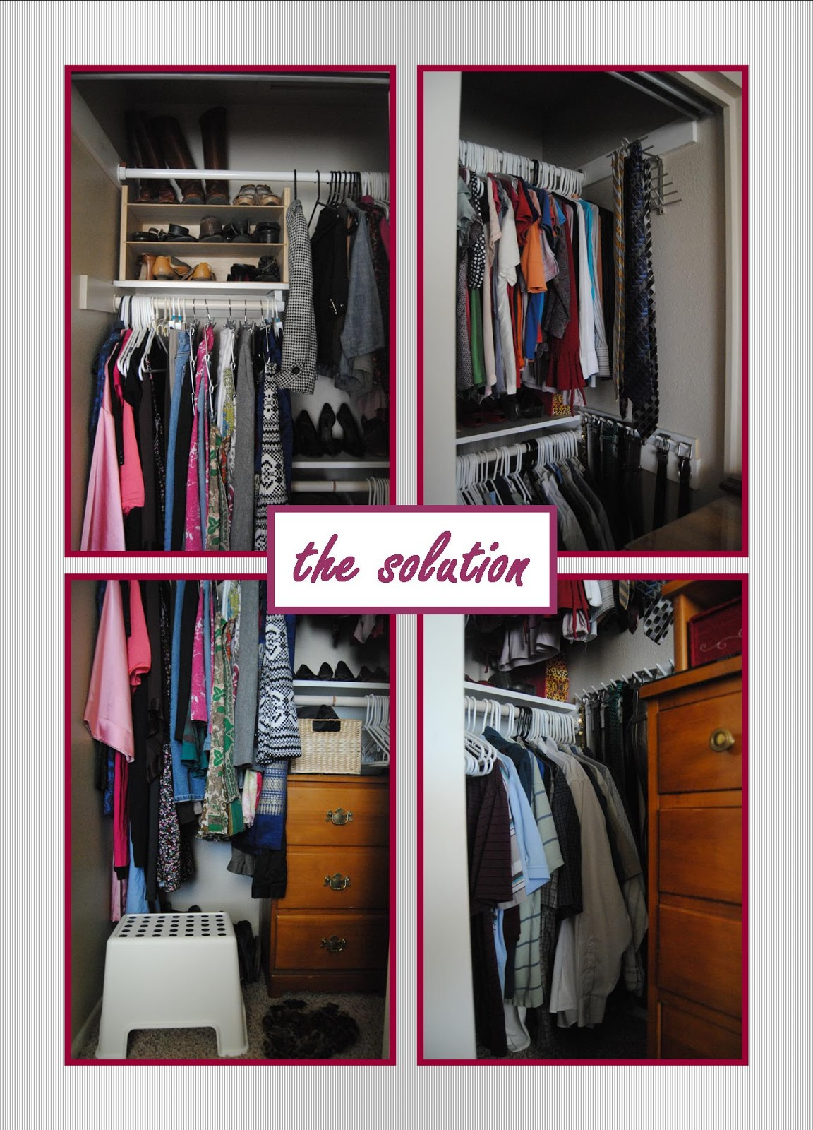 Working With: A Small Master Closet