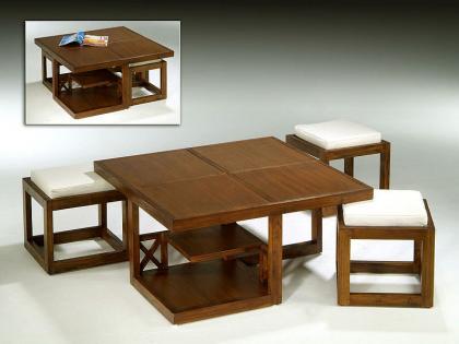 Decoraci n minimalista y contempor nea mesas para for Mesas para espacios pequenos