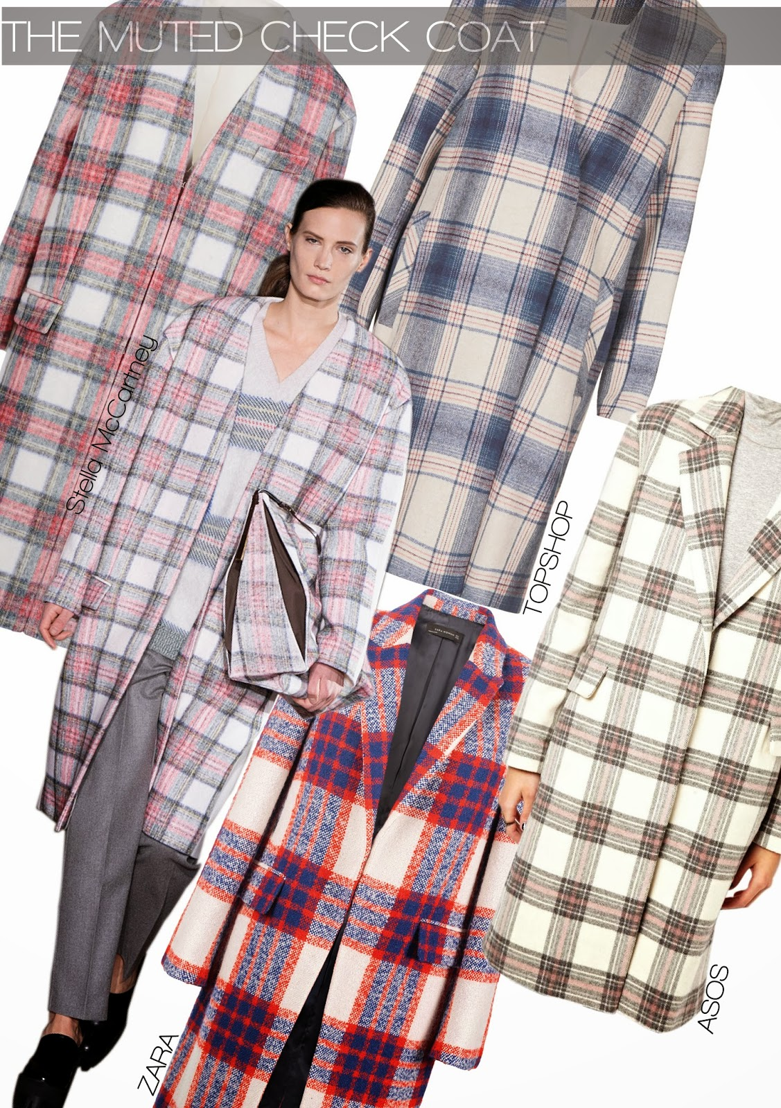 The Muted Check Coat Trend