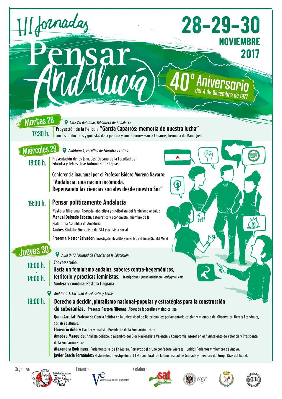 III Jornadas PENSAR ANDALUCÍA. 28 al 30 Noviembre. Granada.