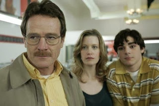 Bryan Cranston, Anna Gunn and RJ Mitte in Breaking Bad s1