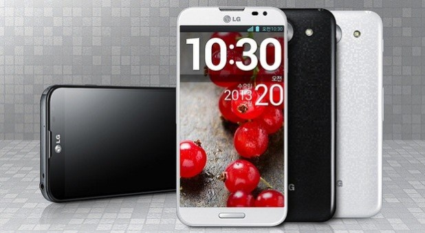 LG Optimus G Pro white and black