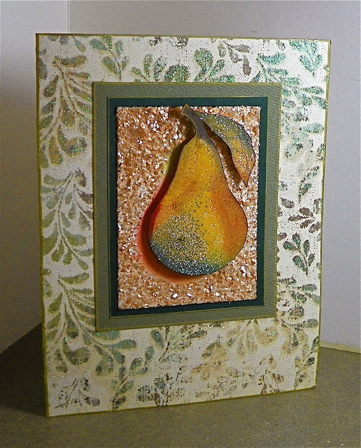mica and glitter greeting card