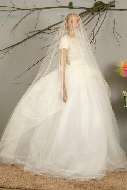 david purves signé couture robe en tulle